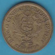 PERU 25 CENTAVOS 1965 KM# 238 400th Anniversary Of La Casa De Moneda - Pérou