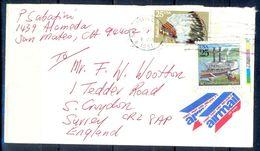 G303- USA United States Postal History Cover. Post To U.K. England. Sea Life. Ship. - United States