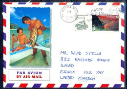 G304- USA United States Postal History Cover. Post To U.K. England. Fish. - United States