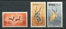 SOMALIE Italienne 1958/59 - Yvert A 72/74 - Antilope - Neuf * (MLH) Avec Trace De Charniere - Somalia