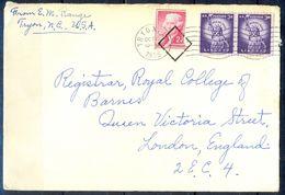G306- USA United States Postal History Cover. Post To U.K. England. Liberty. - Other