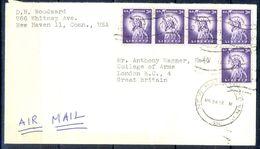 G307- USA United States Postal History Cover. Post To U.K. England. Liberty. - United States