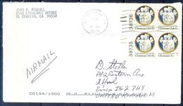 G308- USA United States Postal History Cover. Post To U.K. England. Christmas. - United States