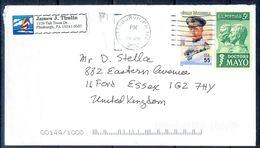 G309- USA United States Postal History Cover. Post To U.K. England. - United States