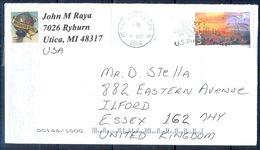 G310- USA United States Postal History Cover. Post To U.K. England. - United States
