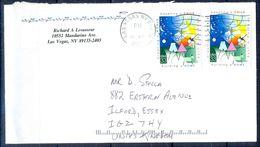 G311- USA United States Postal History Cover. Post To U.K. England. Child Art. - United States