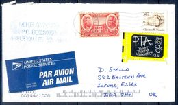 G312- USA United States Postal History Cover. Post To U.K. England. - United States