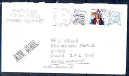 G313- USA United States Postal History Cover. Post To U.K. England. - United States