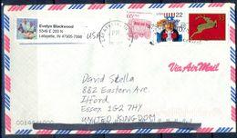 G314- USA United States Postal History Cover. Post To U.K. England. - United States