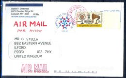 G315- USA United States Postal History Cover. Post To U.K. England. - United States