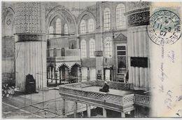 CPA Turquie Turkey Constantinople Circulé Intérieur De Mosquée - Turkey