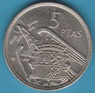 ESPANA 5 PESETAS 1957 (74) KM# 786 FRANCO - [ 5] 1949-… : Regno