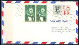 G317- USA United States Postal History Cover. Post To Belgium. - United States