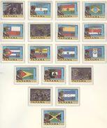 PANAMA Set Of 30 Stamps With GOLDEN Overprint Mint Without Hinge - Wereldkampioenschap