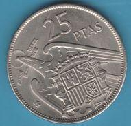 ESPANA 25 PESETAS 1957 (69) KM# 787 FRANCO - 25 Pesetas