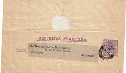 PUY15/1AM - ARGENTINE FRAGMENT DE BANDE JOURNAL CIRCULEE - Entiers Postaux
