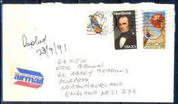 G334- USA United States Postal History Cover. Post To U.K. England. Sports. Animals. Basketball. - United States