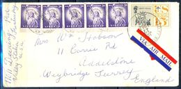 G336- USA United States Postal History Cover. Post To U.K. England. Liberty. - Other