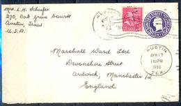 G338- USA United States Postal History Cover. Post To U.K. England. - United States