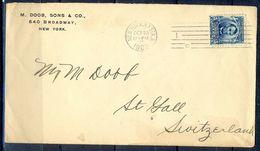 G340- USA United States Postal History Cover. Post To Switzerland. - United States
