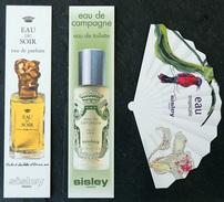 SISLEY - EAU DU SOIR - EAU DE CAMPAGNE - EAU TROPICALE - Carte Parfumée - Parfum Pour Femme - Modern (from 1961)