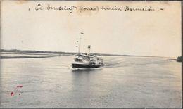 EL BRUSELAS BARCO DE CORREO NAVEGA A ASUNCION CIRCA 1925 CPA UNCIRCULATED RARISIME - Paraguay