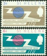 St. Helena 1965, ITU Telecommunication Mi.# 167-168, MNH / ** - St. Helena