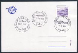 Jugoslavija Yugoslavia 1988 Card / Karte - Oldtimer Steam Train - Bohinj Railway - Jesenice - Nova Gorica - Treinen