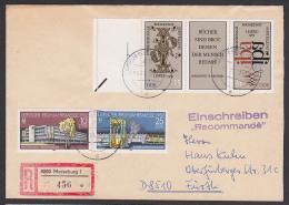 Buchkunst-Ausstellung In Leipzig. Zdr. Mit Leerfeld Auf Auslands-R-Brief DDR 2697/8, W Zd 531, Portogenau - DDR