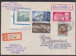 Narsdorf SSt. Klinker-Steine  Aus Deutschen Heimat-Erden 1954 Auf Auslands-R-Brief - DDR
