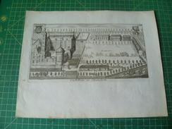 Le Roy. Castellum De Brouchem. Gravure Originale De 1730 - Estampas & Grabados