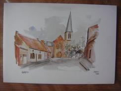 GRATY ( Silly ) - Eglise Et Alentours ( Jasco 1985 ) Carte Double (voir Scans) - Silly