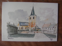 BASSILLY ( Silly ) - Eglise Et Place ( Jasco 1985 ) Carte Double (voir Scans) - Silly