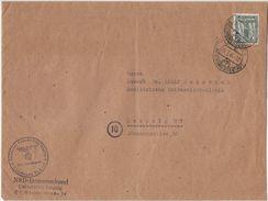 Ortsdoppelbrief Portogerecht Mit Einzelfrankatur Nr.151 Leipzig 10.2.45,selten - Briefe U. Dokumente