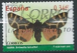 ESPAGNE SPANIEN SPAIN ESPAÑA 2010 BUTTERFLIES MARIPOSAS I 0.34€ ED 4533 YV 4180 MI 4475 SG 4533 SC 3684 - 2011-... Afgestempeld