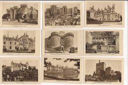 Lot De 10 Images Ou Chromos  Septiline - Les Chateaux : Nérac, Concarneau, Villebon, Avignon, Culan, Chantilly, Lassay, - Vieux Papiers