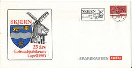 Denmark Cover Skjern 25th Boroughjubilee 1-4-1983 With Very Nice Cachet - Denemarken