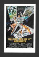 AFFICHES - POSTERS - CINÉMA - JAMES BOND AGENT 007 -  US POSTER  ROGER MOORE - FOR MOONRAKER (1979) - Affiches Sur Carte