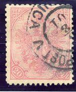 BOSNIA & HERZEGOVINA 1900 Arms 20 H. On Ribbed Paper.  Michel ANK 16y - Bosnia And Herzegovina