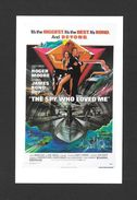 AFFICHES - POSTERS - CINÉMA - JAMES BOND AGENT 007 -  US POSTER  ROGER MOORE - FOR THE SPY WHO LOVED ME (1977) - Affiches Sur Carte