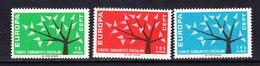 Europa Cept 1962 Turkey 3v ** Mnh (CO336) - 1962