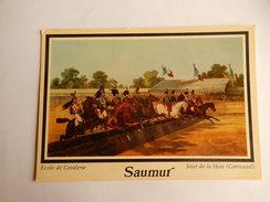 """Dep 49 Saumur 'cavalier A Cheval """" """" Ecole De Cavalerie """" Saut De Haie   ( Carrousel ) ( Neuve ) - Horses"""