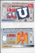 2 ENTRADAS ENTRADA TICKET TICKETS PARTIDOS DE FUTBOL CHILE CHILI CILE AÑOS 2004 Y 2005 - Eintrittskarten