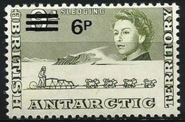 British Antarctic  - 1971 Sledging (new Currency Surcharge) MNH **   Sc 33 - British Antarctic Territory  (BAT)