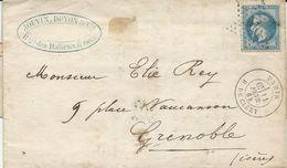 LETTRE 1868 AVEC CACHET ETOILE DE PARIS 24 - 1849-1876: Période Classique
