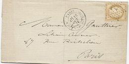 LETTRE 1875 AVEC CACHET ETOILE DE PARIS 7 - 1849-1876: Période Classique