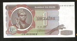 ZAIRE - BANQUE Du ZAIRE - 1 ZAIRE (1980) - Zaire