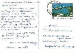 Bermuda 1988 Warwick Mills Creek Official Postcard No. 6 Of 12 - Bermuda