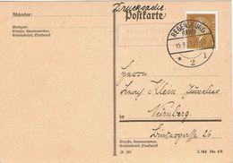 Postkarte Mit Landpoststempel Oberisling Regensburg 2  1929 - Cartas