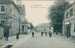 AK Herxheim, Dorf-Straße Mit Schulhaus, O 1919 (17349) - Germania